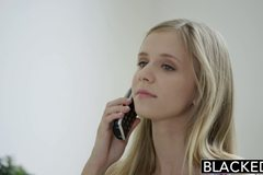 Petite blonde teen Rachel James first big black cock