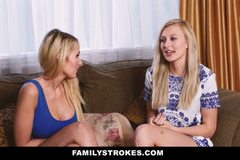 Sexy Teen Gets a Little Help From Her Step Mom