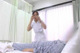 Handjob patient, his wife suddenly coming censored +