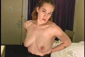 Joy lactating at a cheap motel