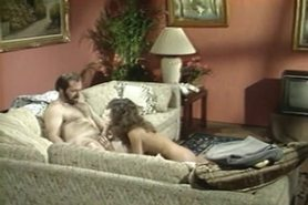 Sexy daddy and girl with hairy snatch