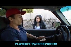 Asian teen dropout is picked up and fucked in a pickup