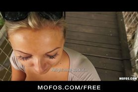 Public Pickups - HOT Czech babe is paid cash for public BJ
