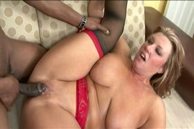 No Sound: Horny milf with tattoo having interracial sex