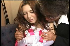 Pretty young Japanese girl's sexy hairy cunt fucked