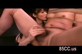 Mosaic: Horny bondaged sex by horny girl 02