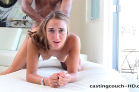 Castingcouch-HD Sally is nervous. Not for long.