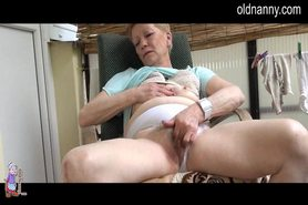 Horny Old mature masturbation
