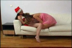 Santas daughter's friend gets her holes licked by another girl  FM14