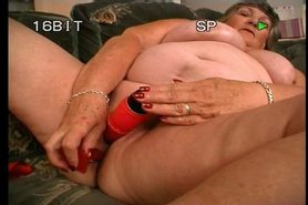 Big Mature Woman Masturbating