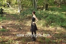 fun in the woods - handjob