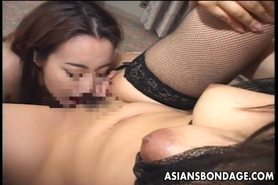 Hot Asian babe has her first lesbo experience.