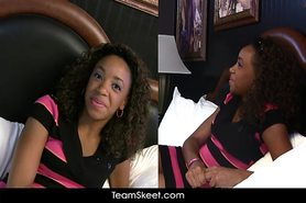 Young ebony Michelle Brown hardcore sex orgasm