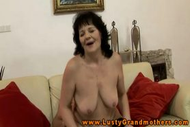 GILF amateur in stockings fucked hard