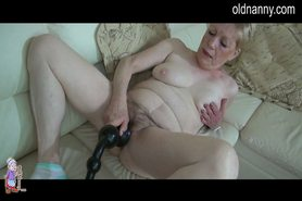 Granny tries a new sextoy