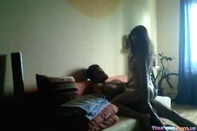 Girl Rides Her BF Like Crazy And Orgasms