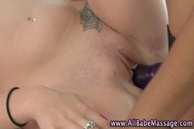 Masseuse lez babes strapon play