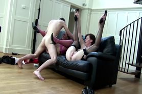 Glamorous matures enjoying a threesome