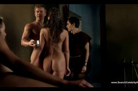 Anna Hutchison and Ayse Tezel Nude - Spartacus