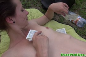 Euro amateur gets naked for cash