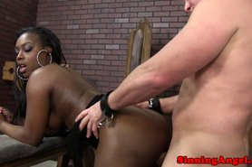 Ebony Janea Jolie fucking and sucking