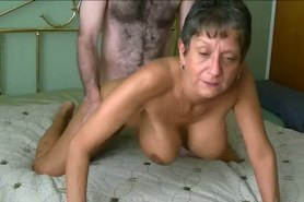 Busty beautiful grandma fucked.