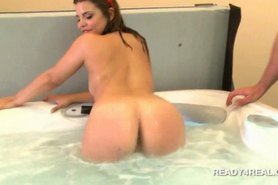 Blonde tempting amateur picked up for paid sex in the jacuzzi