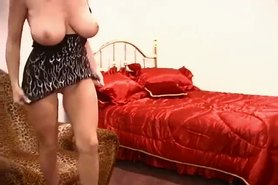 Big tits with dildo