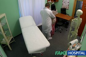 FakeHospital Teen not on birth control bends over for doctors creampie