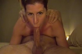 Milf Deepthroats His Big Cock