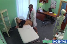 Thick beautiful blonde let's the doctor do as he pleases