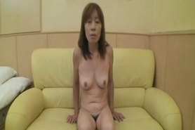 51yr old Shy Granny Nagura gets Creamed (Uncensored)