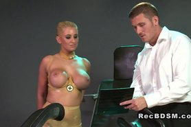 Huge tittied sub vibed in bdsm