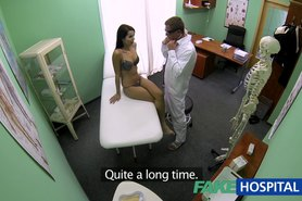 Slim skinny young student cums in for check up gets the doctors creampie