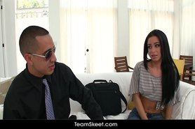 Sexy petite latina teen fucked at home