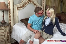 Bigass milfs threeway with an assfucked teen