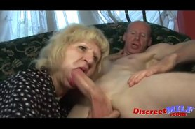 Granny fucked in her hairy pussy