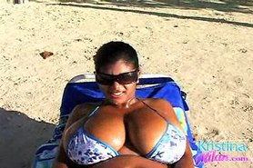 Kristina Milan beach play