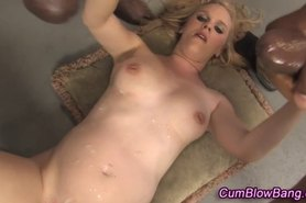 Pregnant gangbang hoe cum drenched