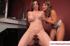 Sara Jay and Ava Devine enjoy a threeway