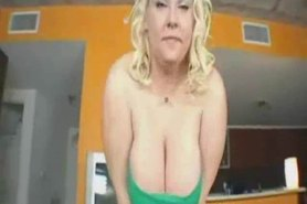 Horny blonde student hungry for white sperm