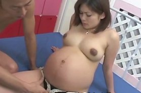 Pregnant asian gets hairy box fingered