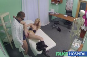 Hot blonde gets the full doctors treatment