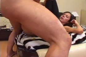 Russian babes fucked in a foursome