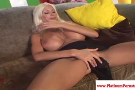 Puma Swede fingers her wet pussy