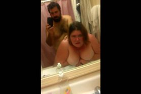 Fucking a BBW MILF in the bathroom