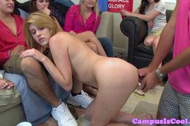 Real sophomore bimbo in anal play