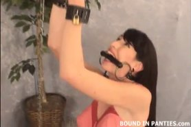 Natalie Minx chained to the ceiling like an animal