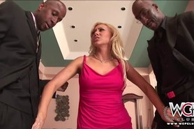 Naughty housewife loves two BBC