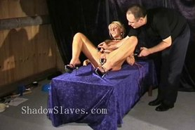 Bizarre rough sextoy domination of blonde Crystel Lei